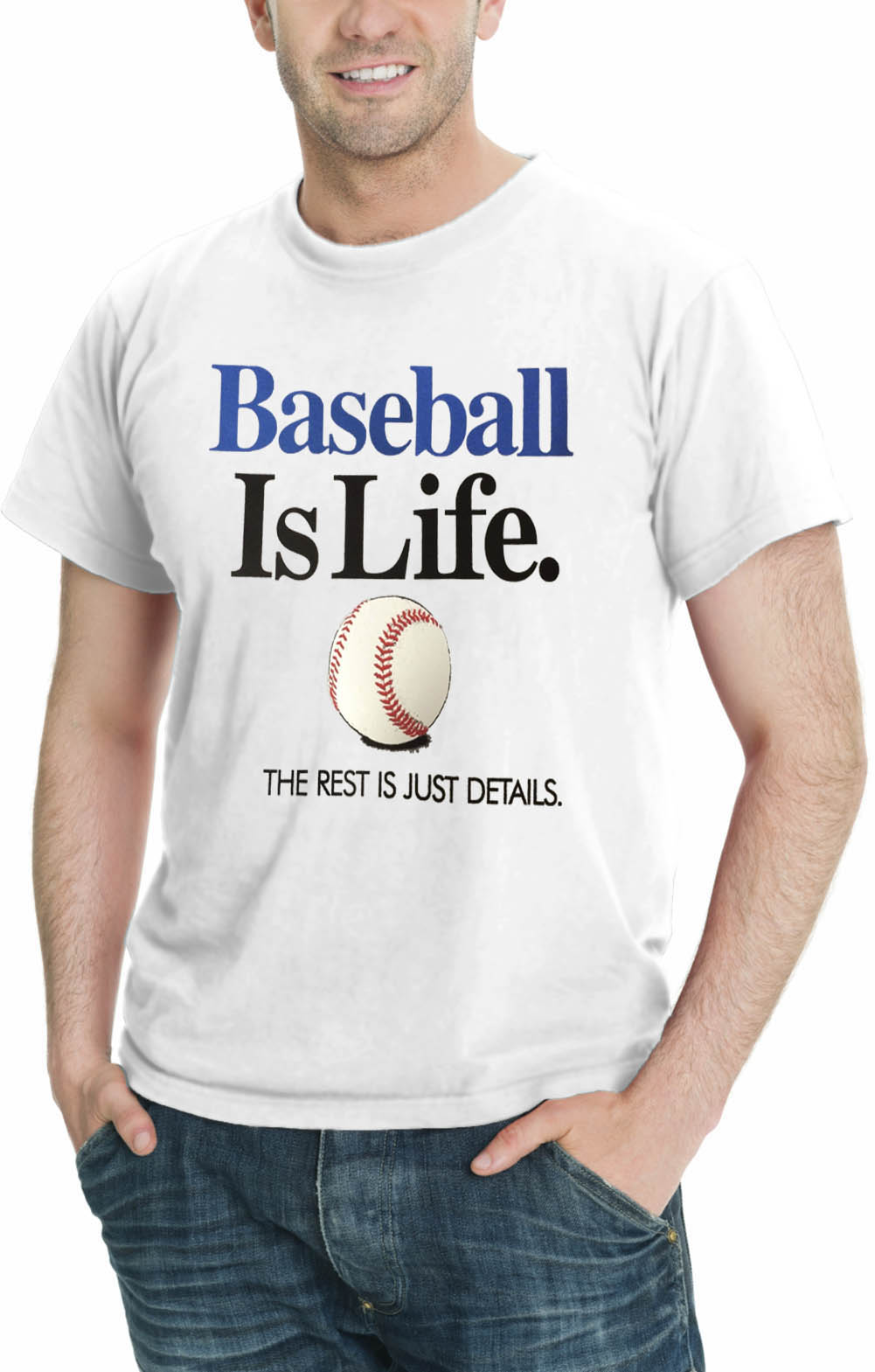 Baseball Is Life THE REST IS JUST DETAILS Men s Sport T-Shirt