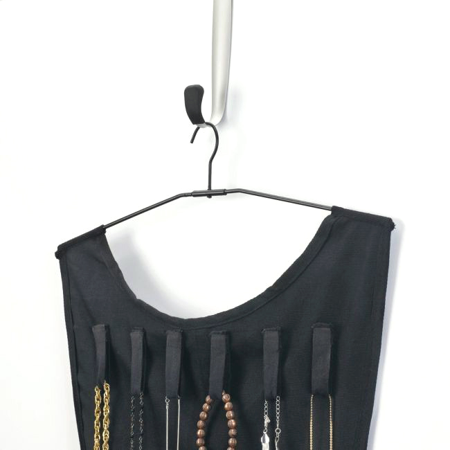 DoubleSided Black Dress Hanging Jewelry Organizer BelleChic