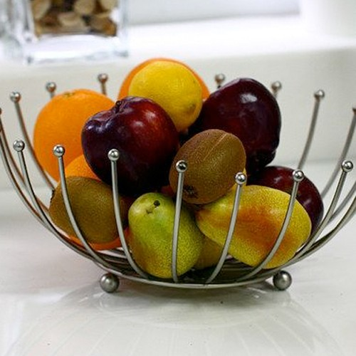 Home Collections Satin Nickel Fruit Basket 3433105