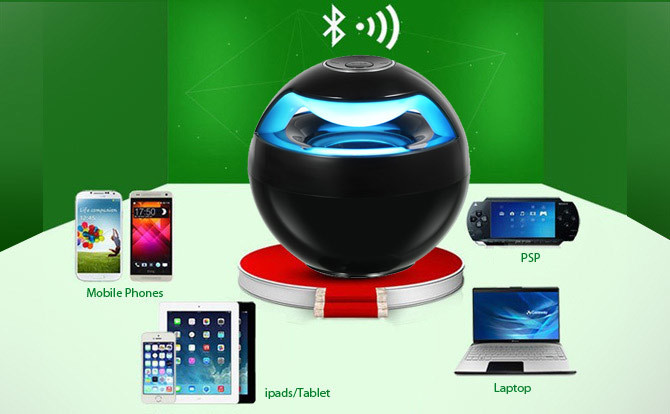 The Orb Led Bluetooth Speaker Tanga