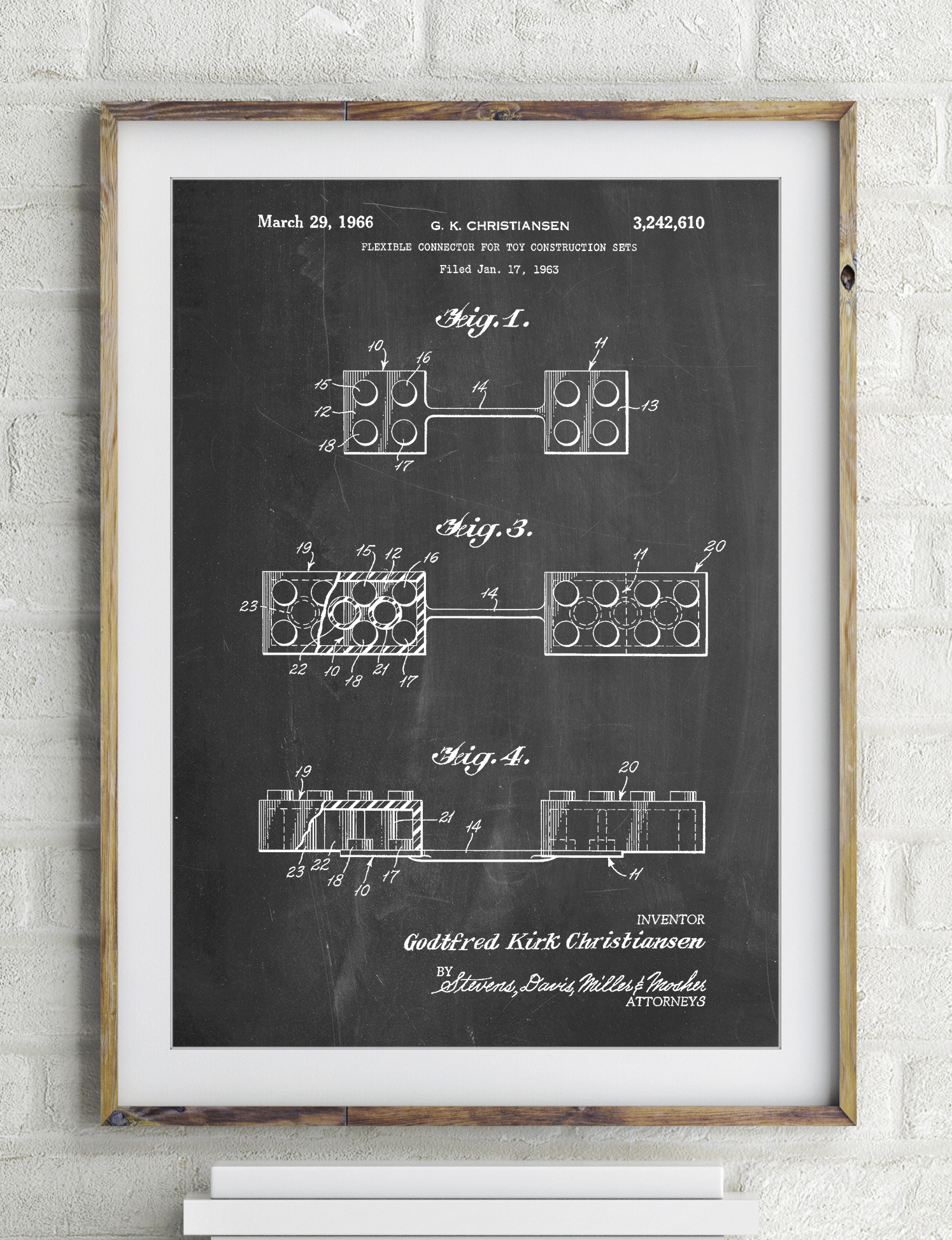 Lego Flexible Connector Patent Poster