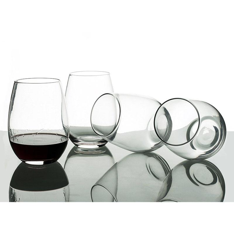 Set of 4 Large 20 Oz EraVino Stemless Crystal Wine Glasses 6330764