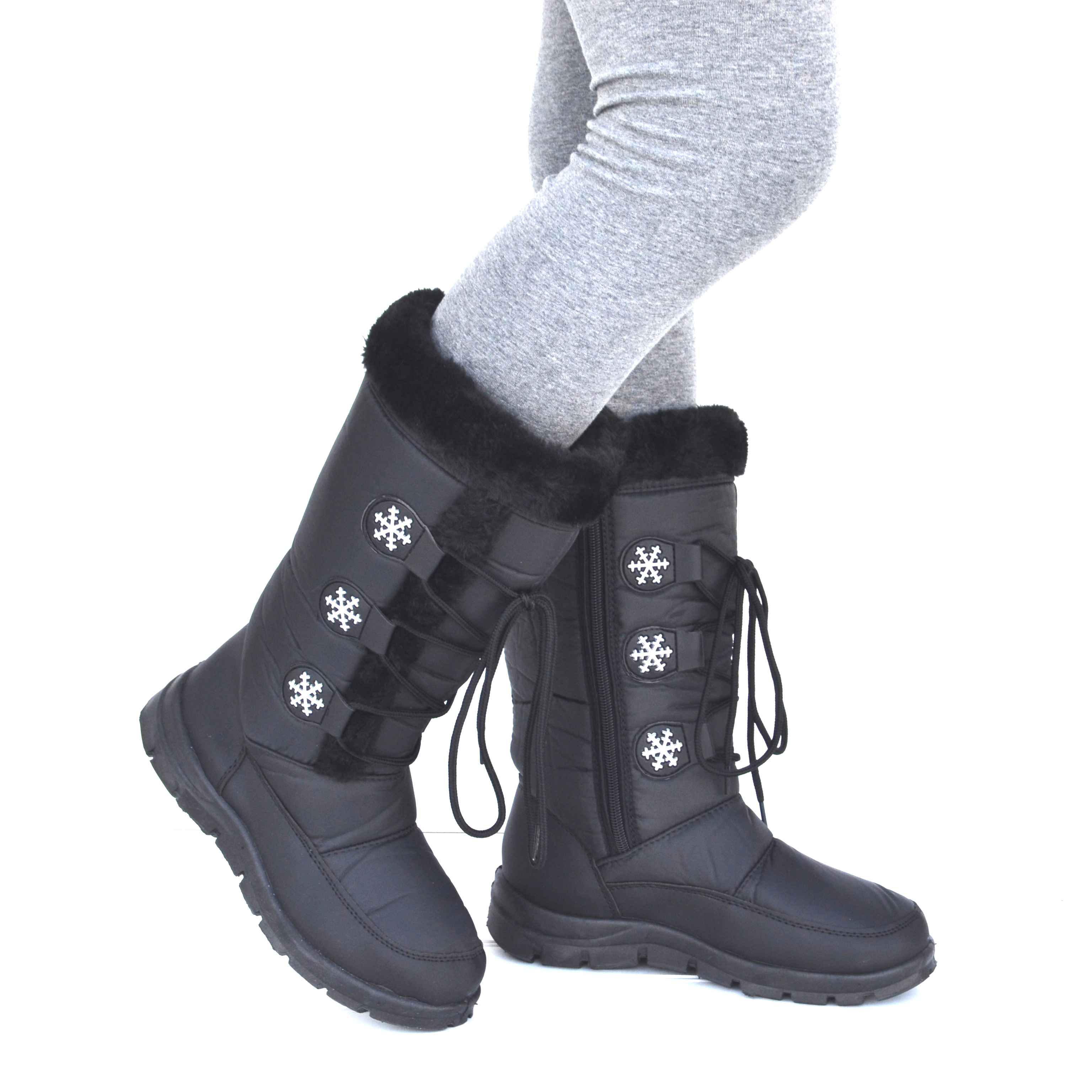Mata Women's Water Resistant Insulated Fur Lined Snow