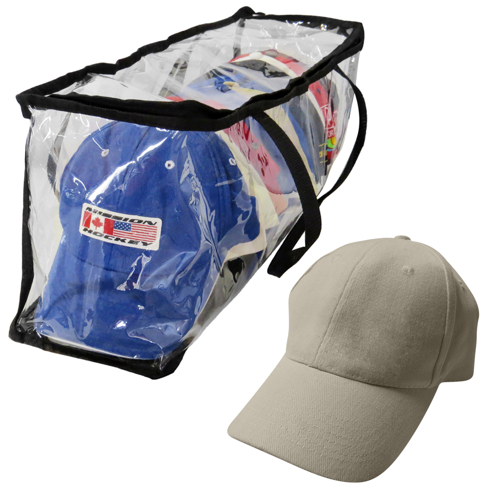 sc 1 st  Tanga & Evelots Baseball Cap Storage Bag Zipper Organizer Clear Plastic