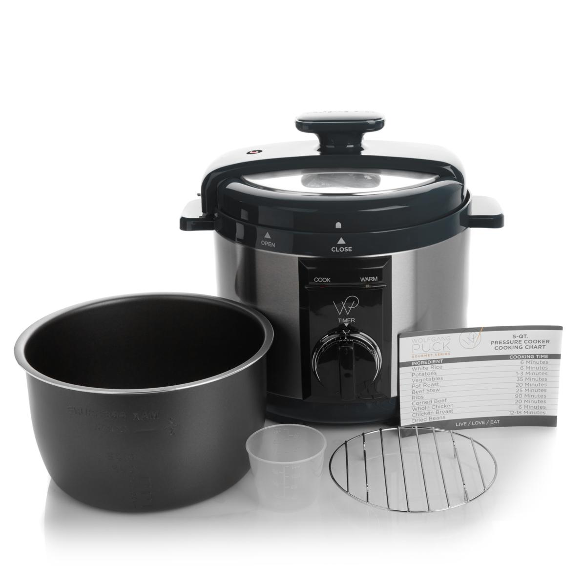 Wolfgang Puck 5 Qt Automatic Rapid Pressure Cooker with 44 Recipes - Tanga