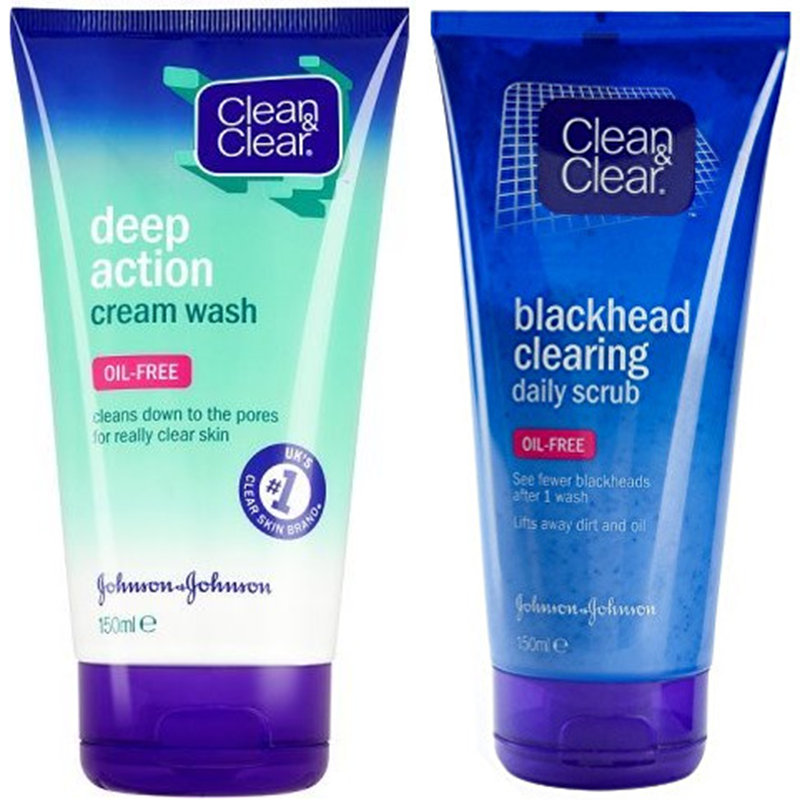 Clean  amp  Clear Deep Action Cream Wash   Blackhead Clearing Daily Scrub
