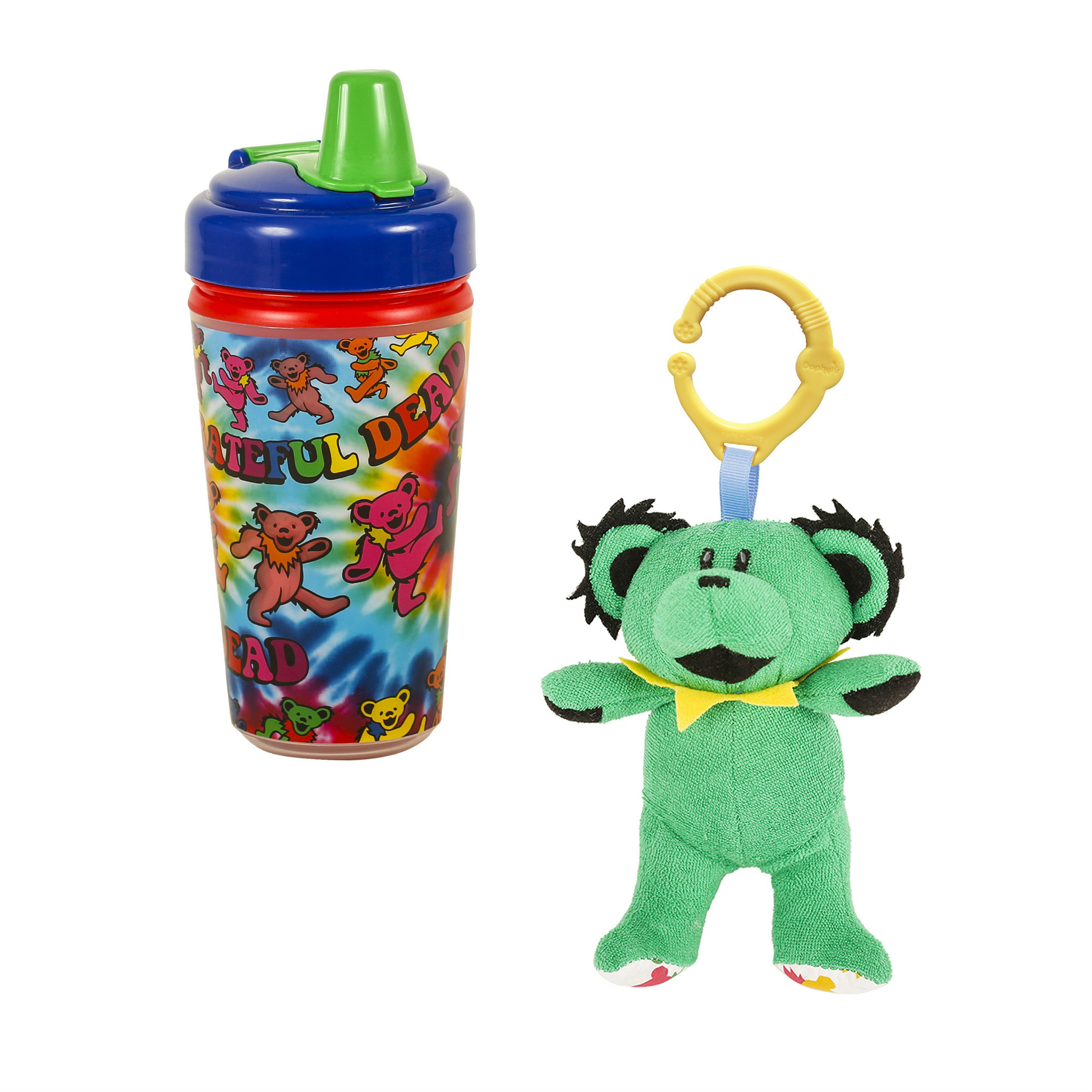 Grateful Dead or Pink Floyd Sippy Cup  amp  Plush Toy Baby Bundle 5787730