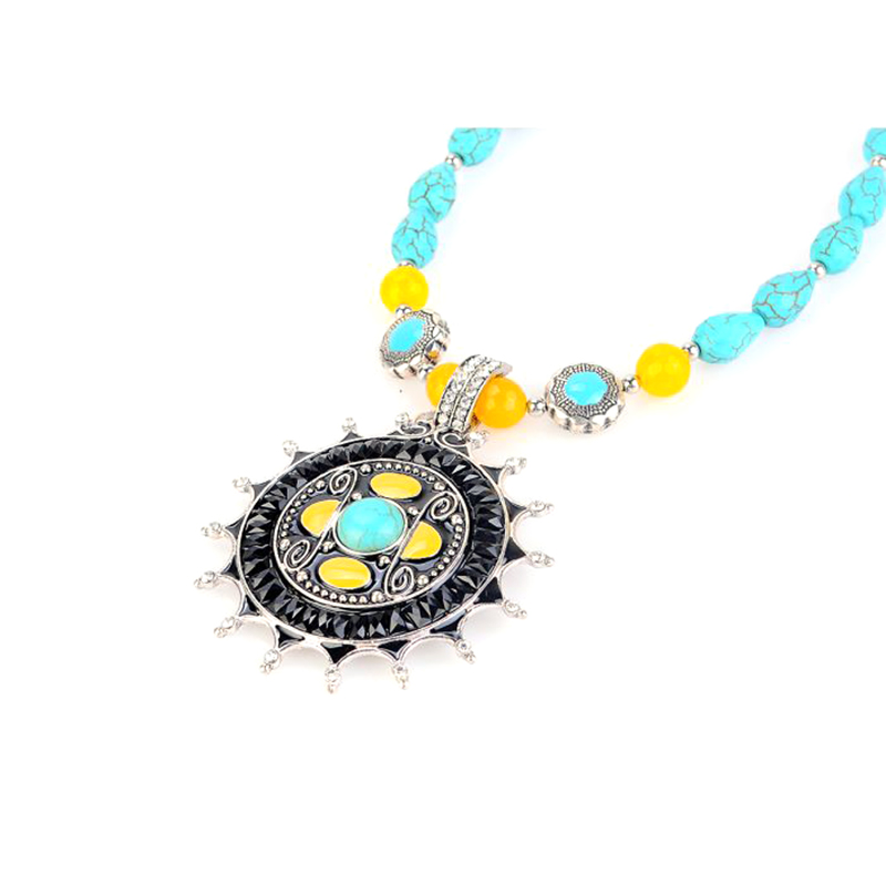 Boho Princess Turquoise  amp  Agate Necklace