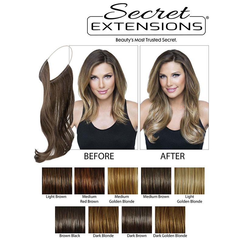As seen on TV Secret Hair Extensions - By Daisy Fuentes 82ecf0d431d9