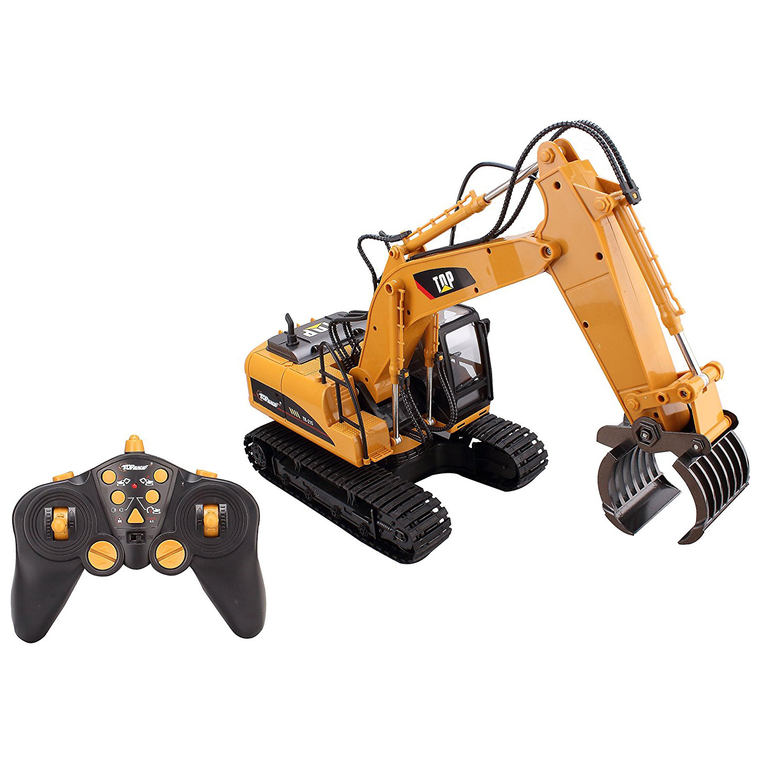 Channel Remote Control RC Fork Excavator, Construction Grapple Fork Tr 9e71bb1335b2