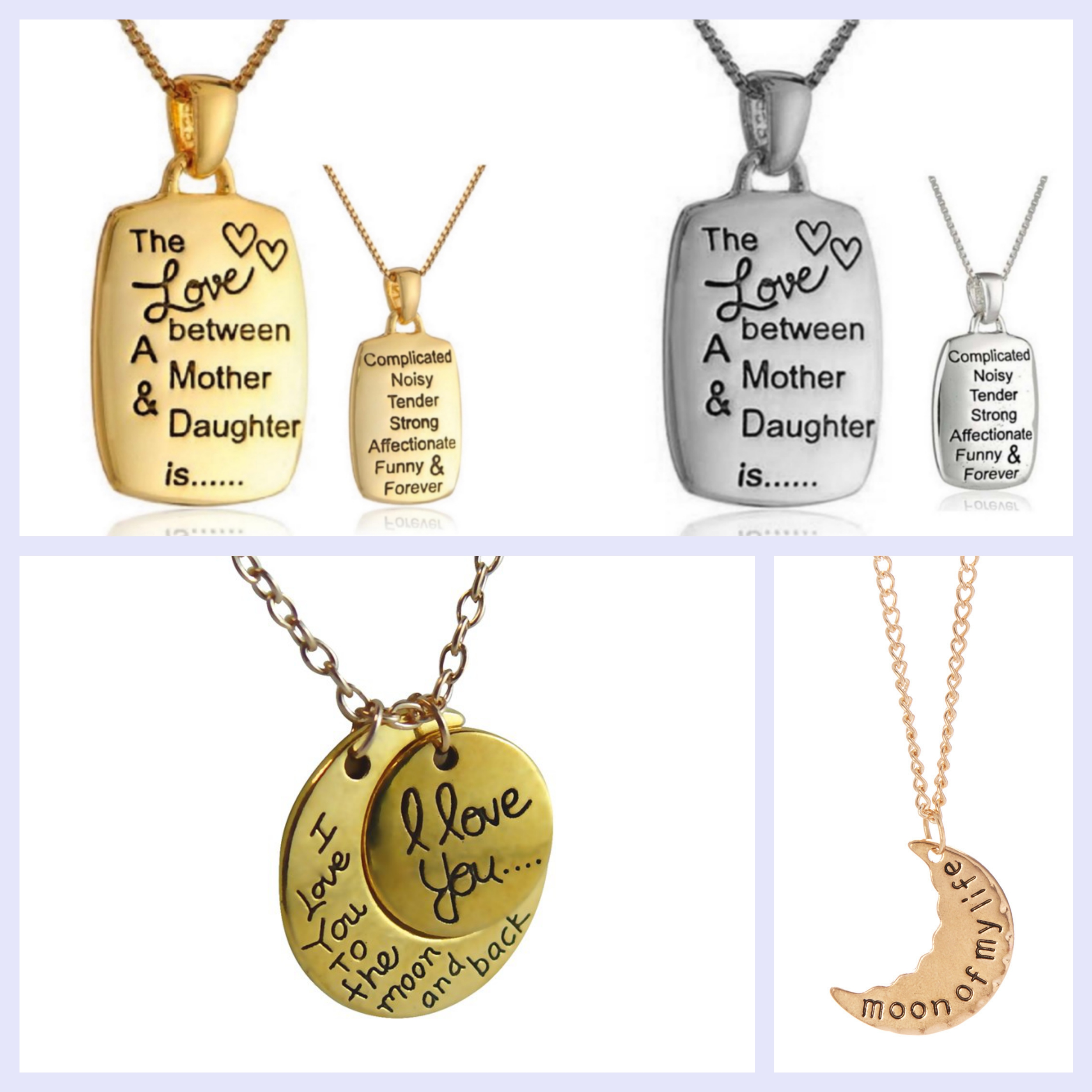 Scripted Message Necklaces - Assorted Styles