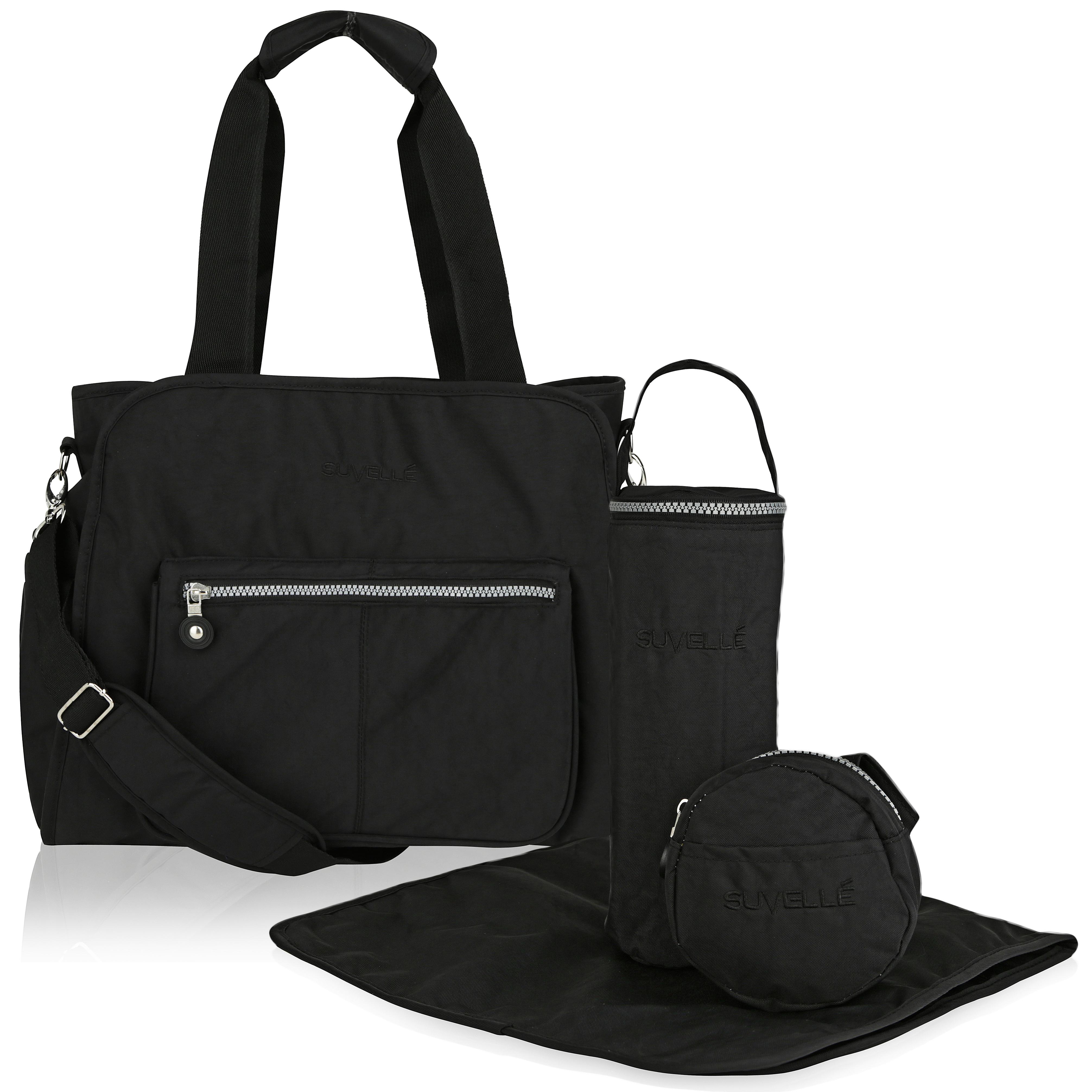 Suvelle 4-Piece RFID Travel Baby Diaper Bags Set eb72de8d22ed