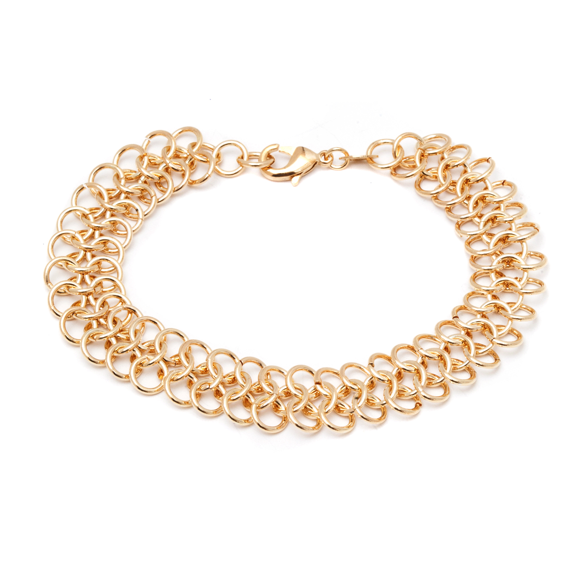 Gold Plated Interlocking Link Bracelet 1e423e468665