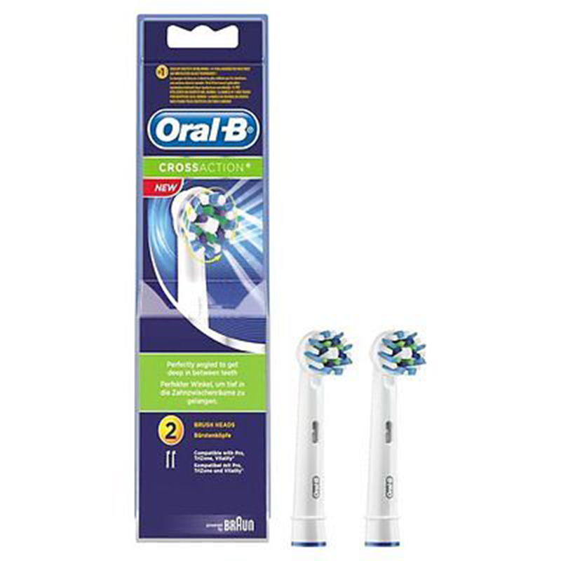 Oral-B Cross Action Replacement Brush Heads, 2 Count