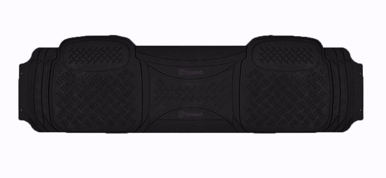 Zone Tech Heavy Duty Black Rubber Trimmable Floor Mat
