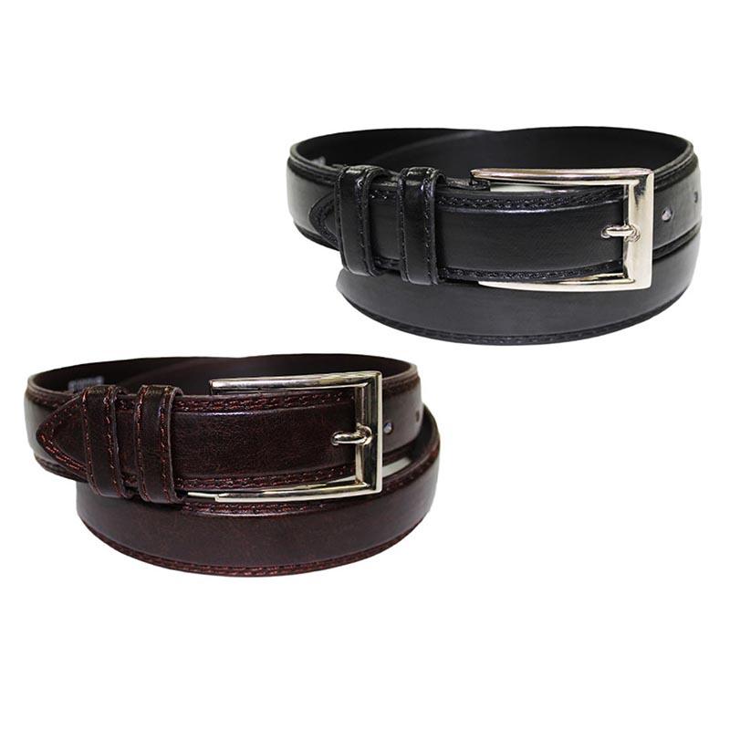 2-Pack Men s Genuine Leather Belts 8944aa283abd