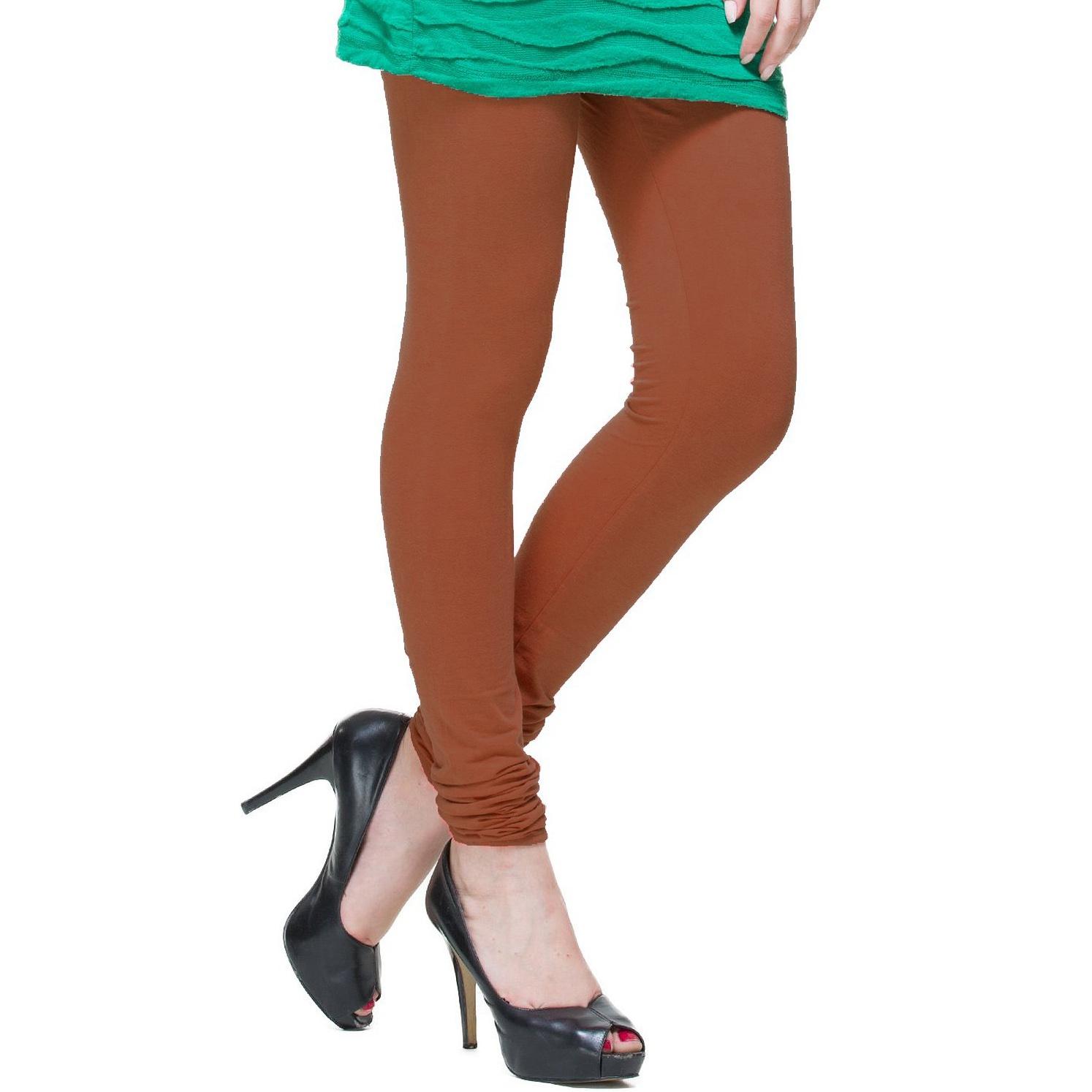 6-Pack Solid Basic Cotton Fashion Leggings - Tanga