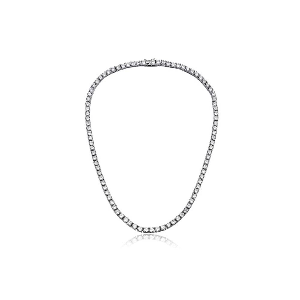 42cttw Austrian Crystal Tennis Necklace