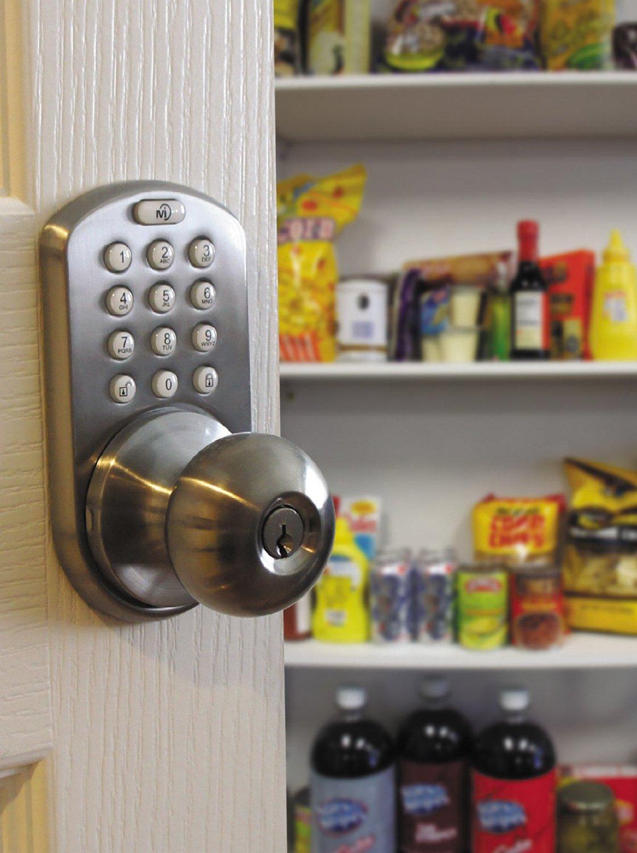 Milocks Dkk 02sn Electronic Keypad Amp Key Entry Door Knob