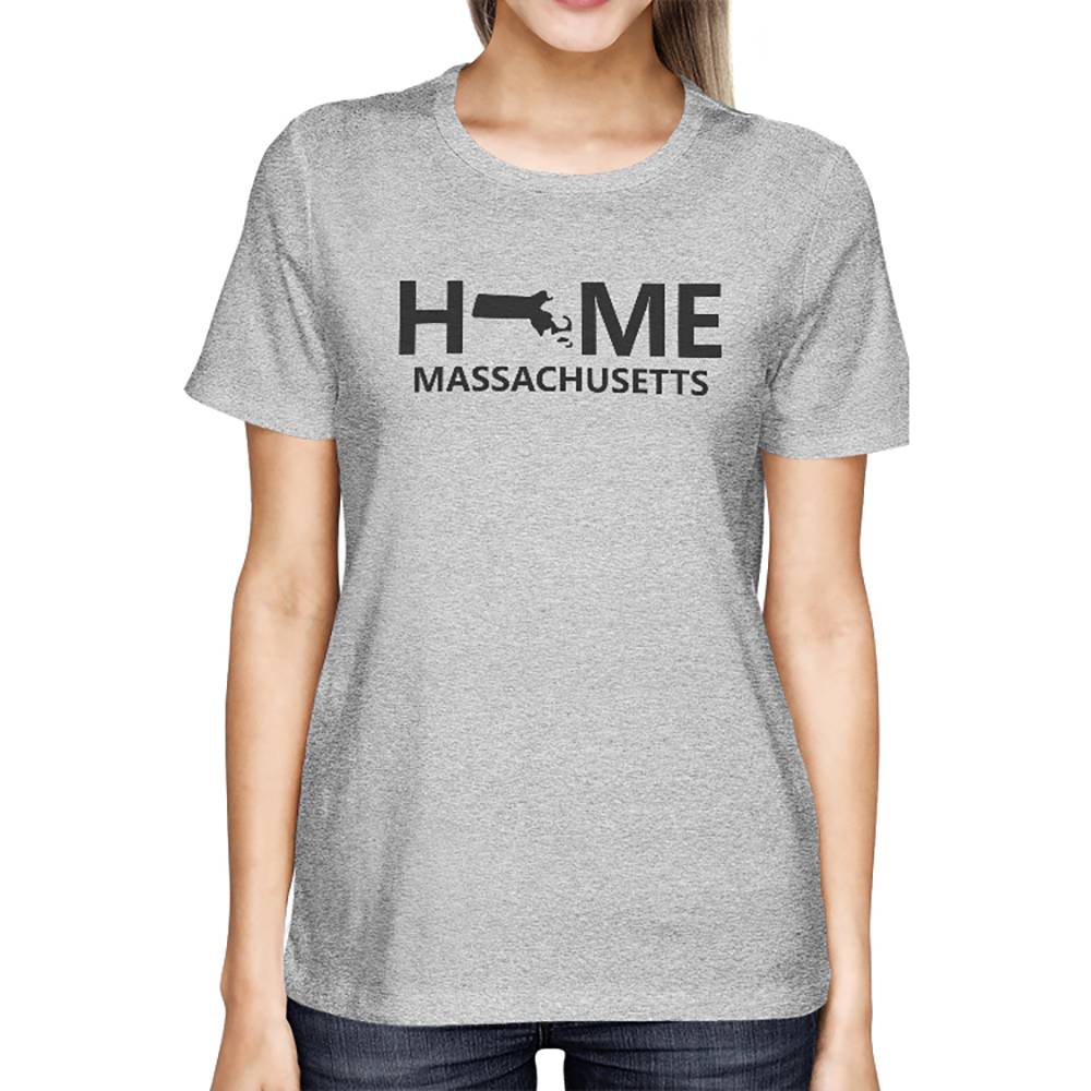 Home MA State Grey Women s T-Shirt