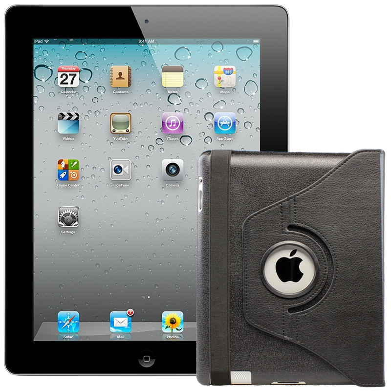 Apple iPad 2 MC769LL A   FREE CASE (16GB WiFi, Black) - Grade A