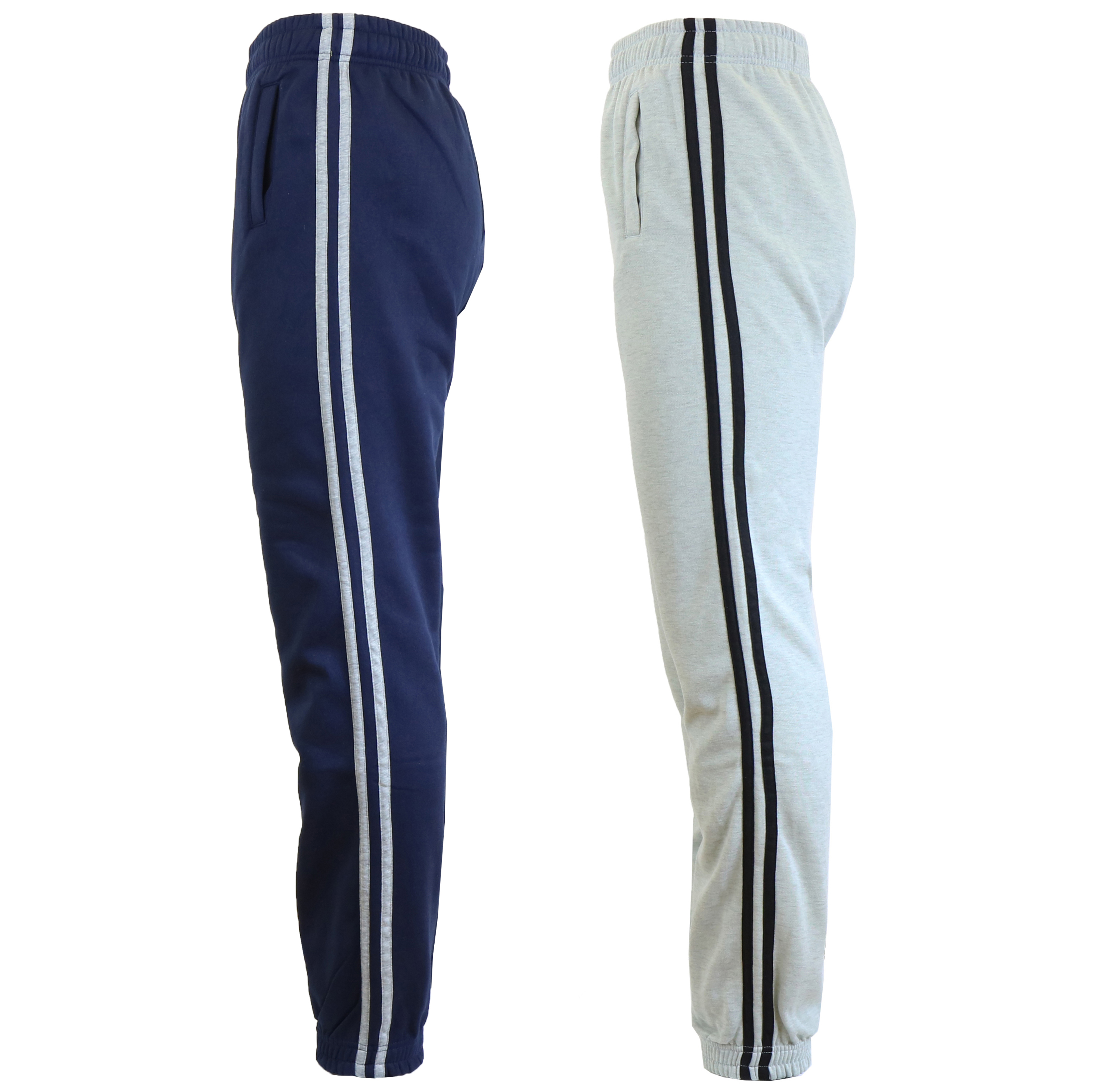 2-Pack Galaxy by Harvic Heavy Side Stripe Joggers