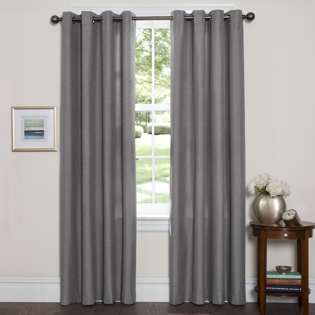 Set of 2 - Textured Thermal Blackout Window Curtain Panels - 84   amp  96