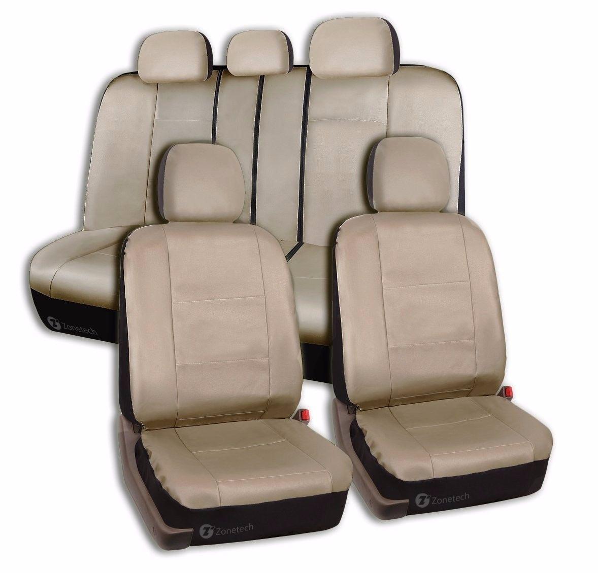 Zone Tech Luxury Universal Fit Interior Decor PU Leather Car Seat Cove