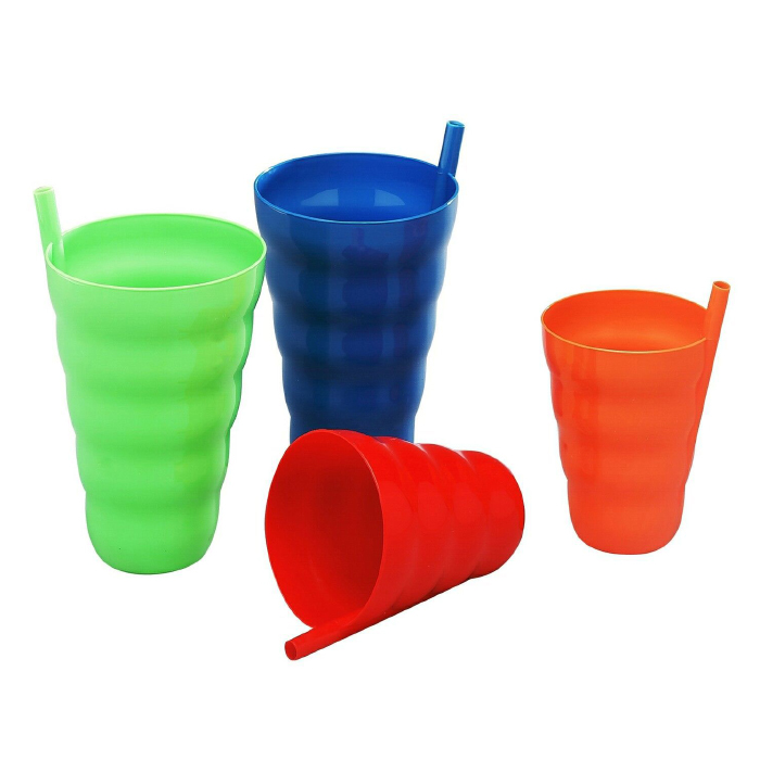 Top Cup Pack : Pack sipping cups with built in straw tanga
