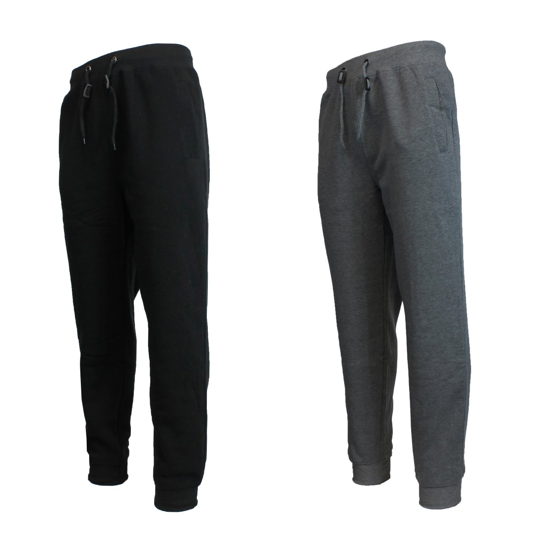 2 Pack Mens Heavy Fleece Jogger Pants