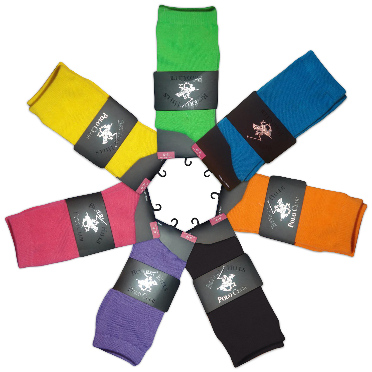 4-Pack  Beverly Hills Polo Club Women s Crew Socks - Assorted Colors
