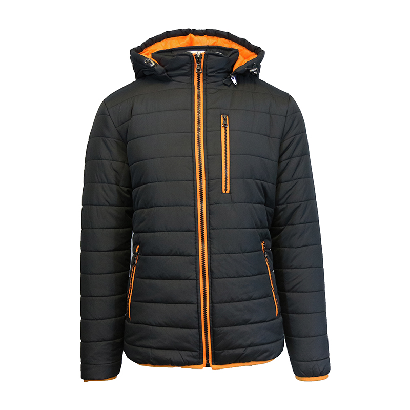 Men's Heavyweight Puffer Jacket With Contrast Trim