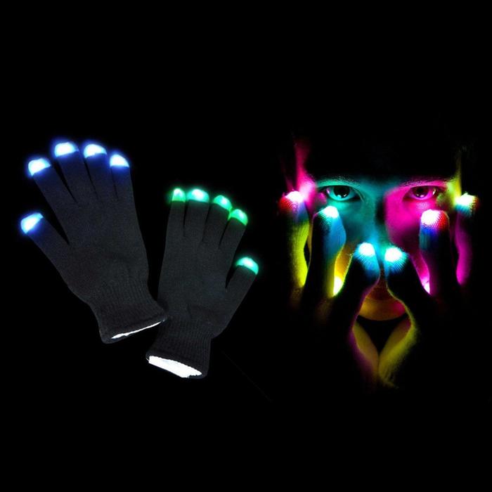 2-Pack Glow Gloves - LED Light Up Gloves