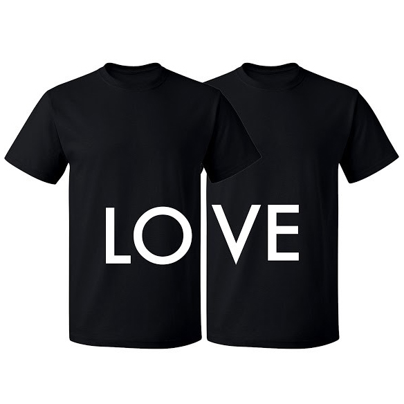 Valentine s Day LOVE Matching Couples T-shirts