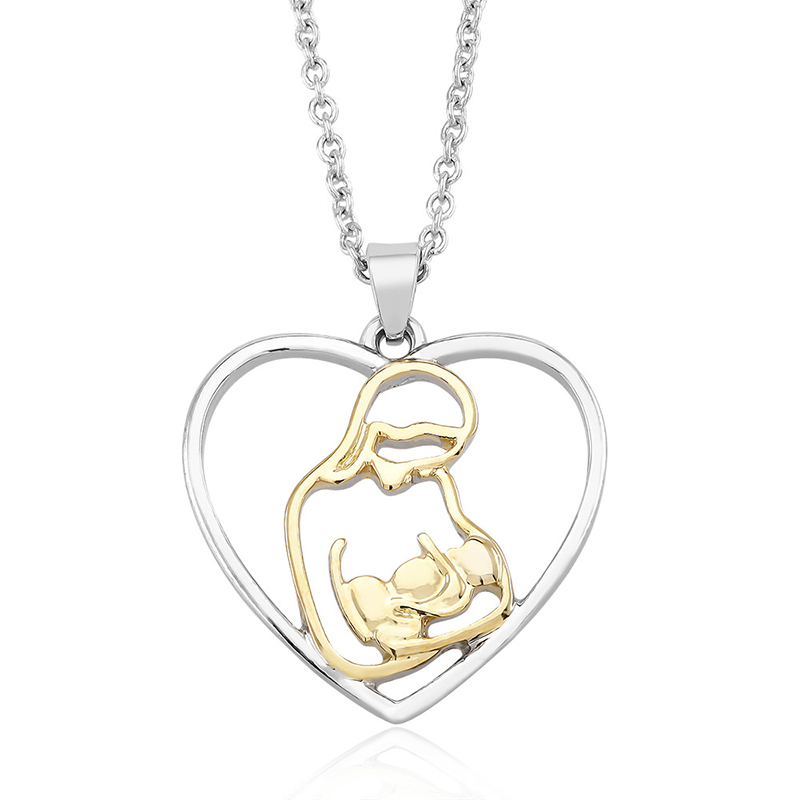 18kt White Plated Gold Drop Necklace
