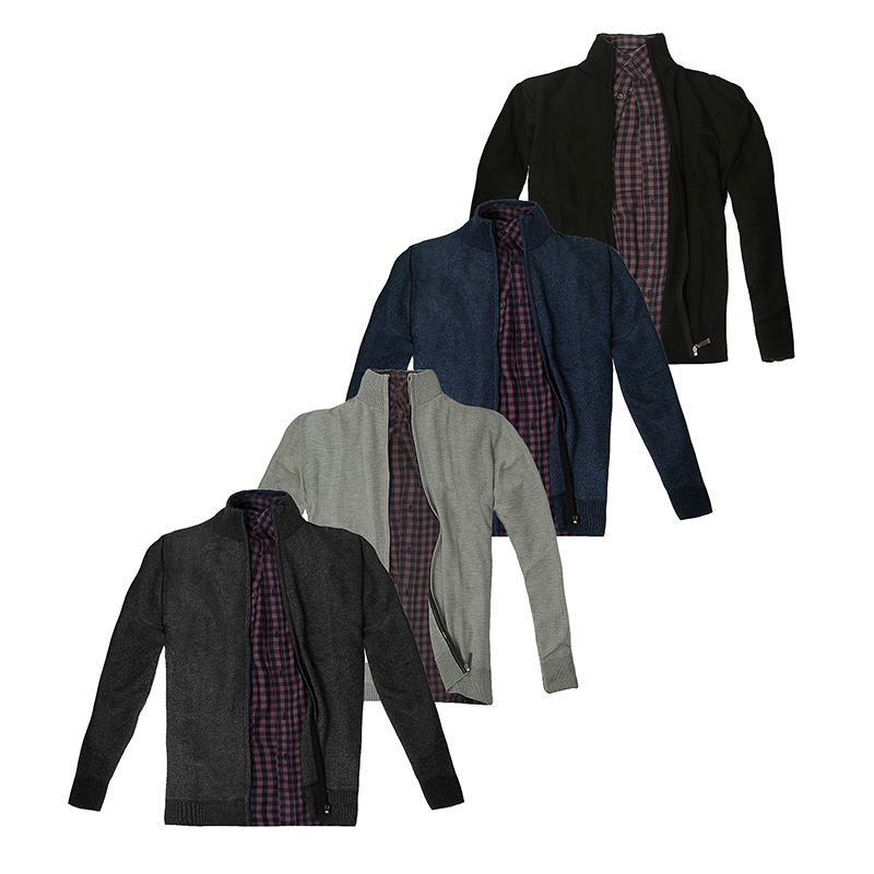 Men s Casual Full Zip Thick Knitted Cardigan Sweaters 11796277