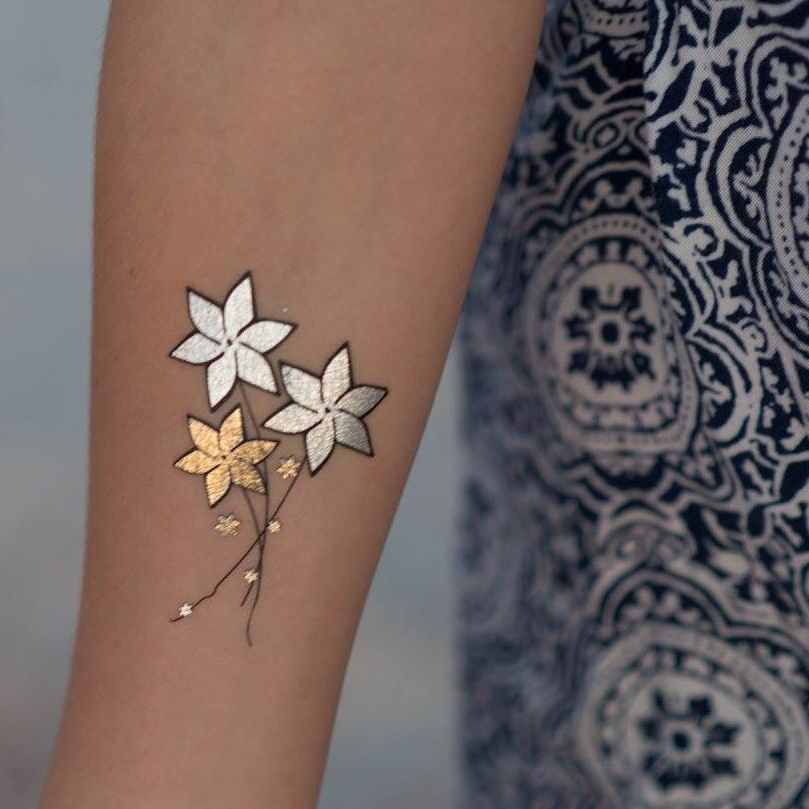 8 pages of metallic temporary tattoos for kids tanga for Temporary tattoos for kids