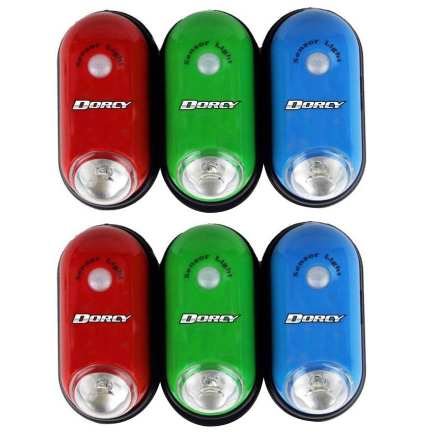Dorcy Wireless Motion Sensor LED Light 6-Pack (Red/Blue/Green)