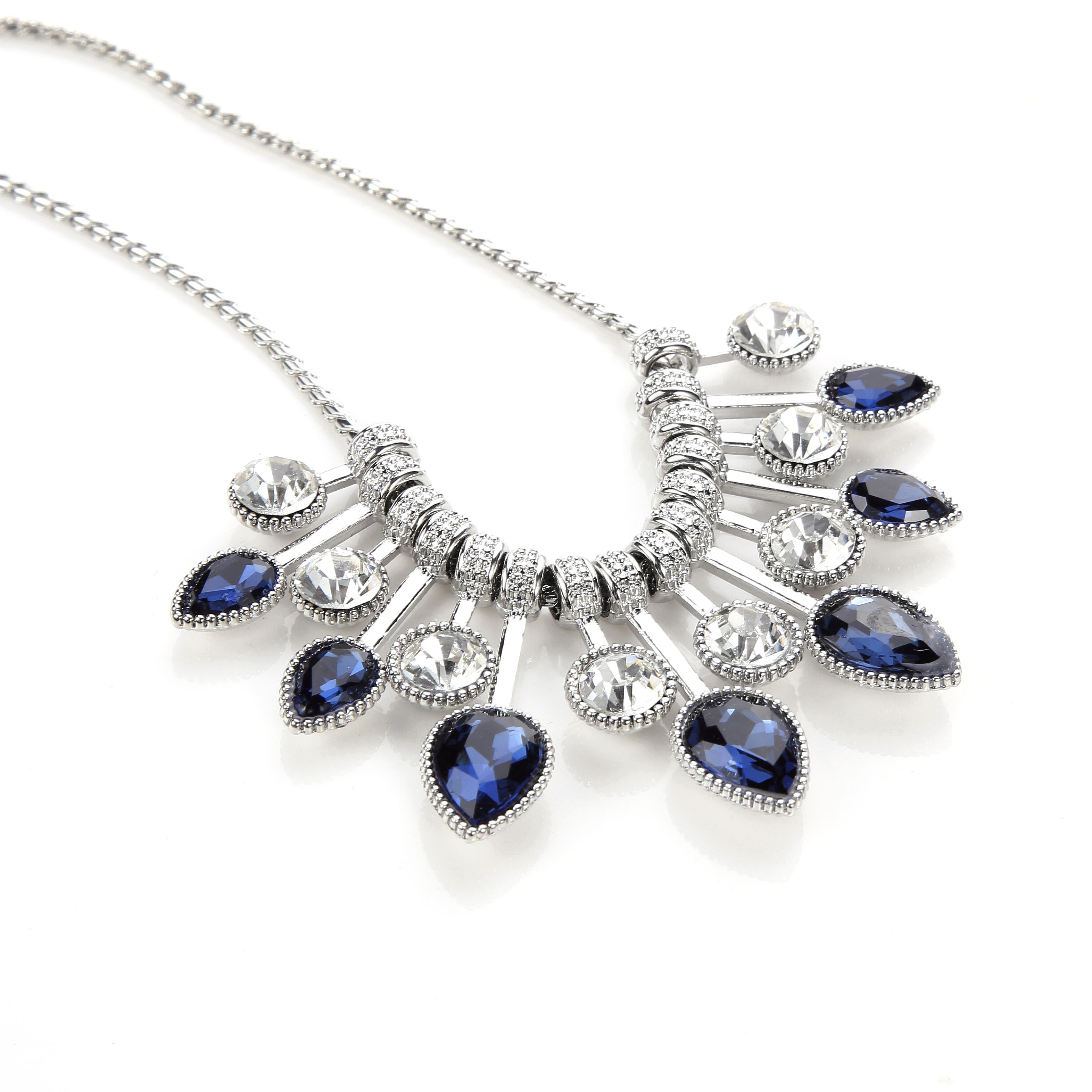 Sensational English Cobalt Pear Drop Statement Necklace