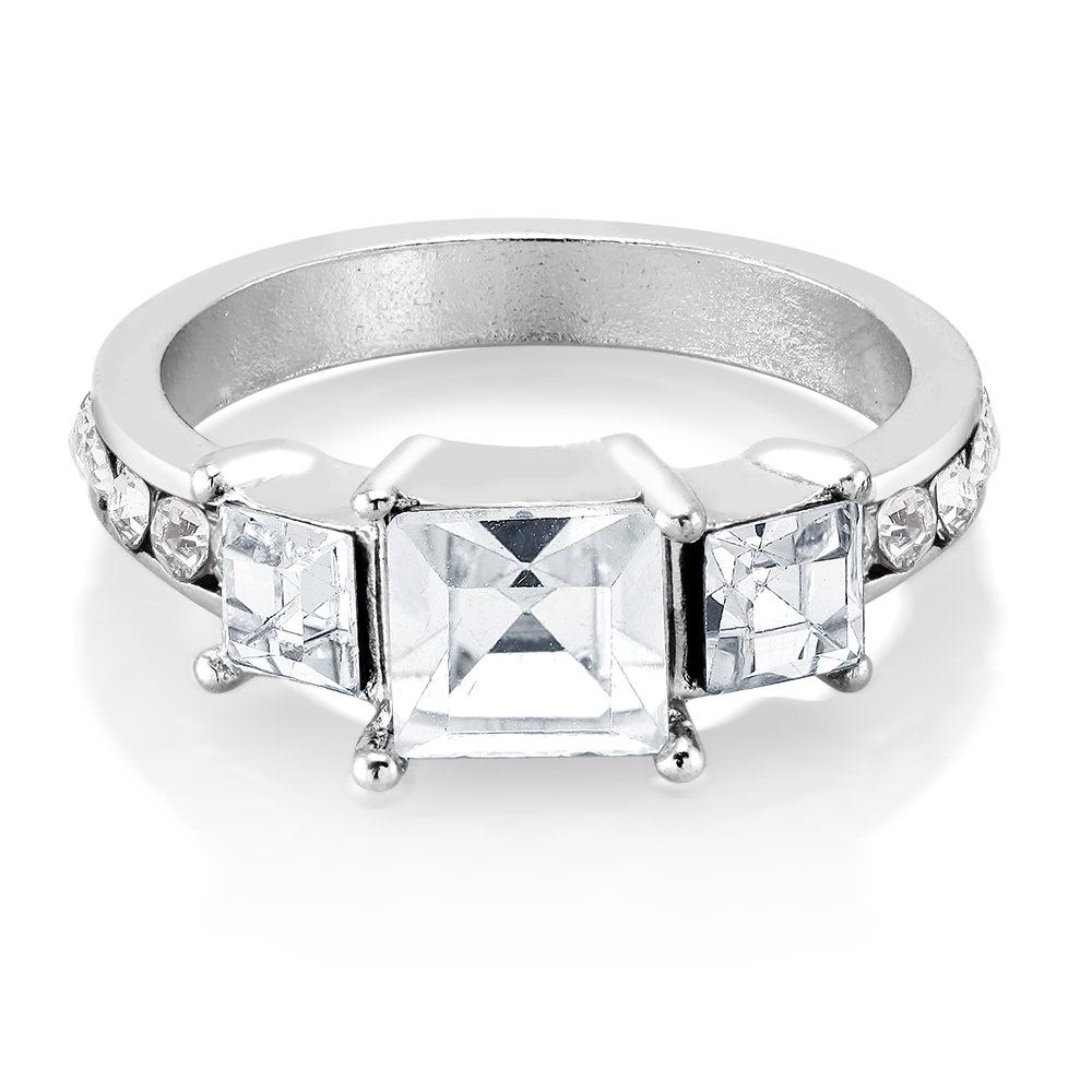 Cubic Zirconia 3 CTTW Fancy Ring
