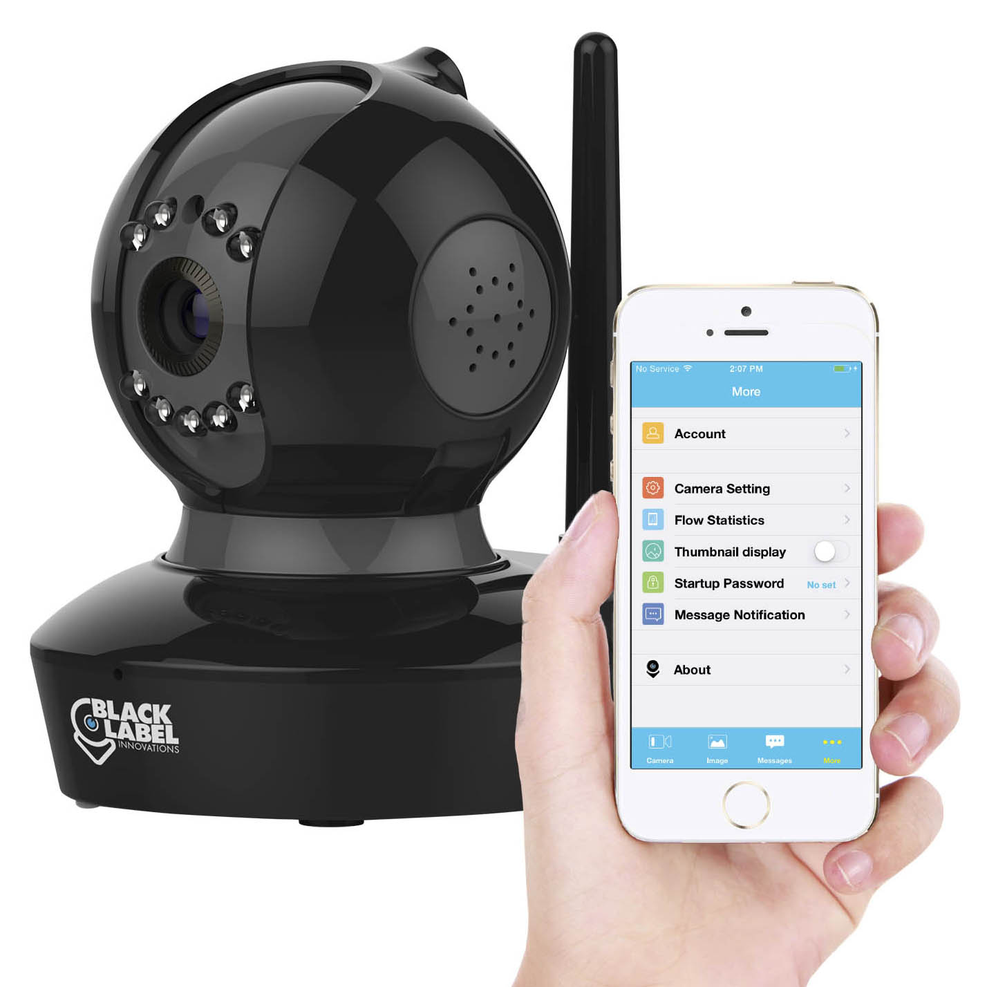 Black Label Cam Pro Full HD 1080P WiFi Surveillance Camera