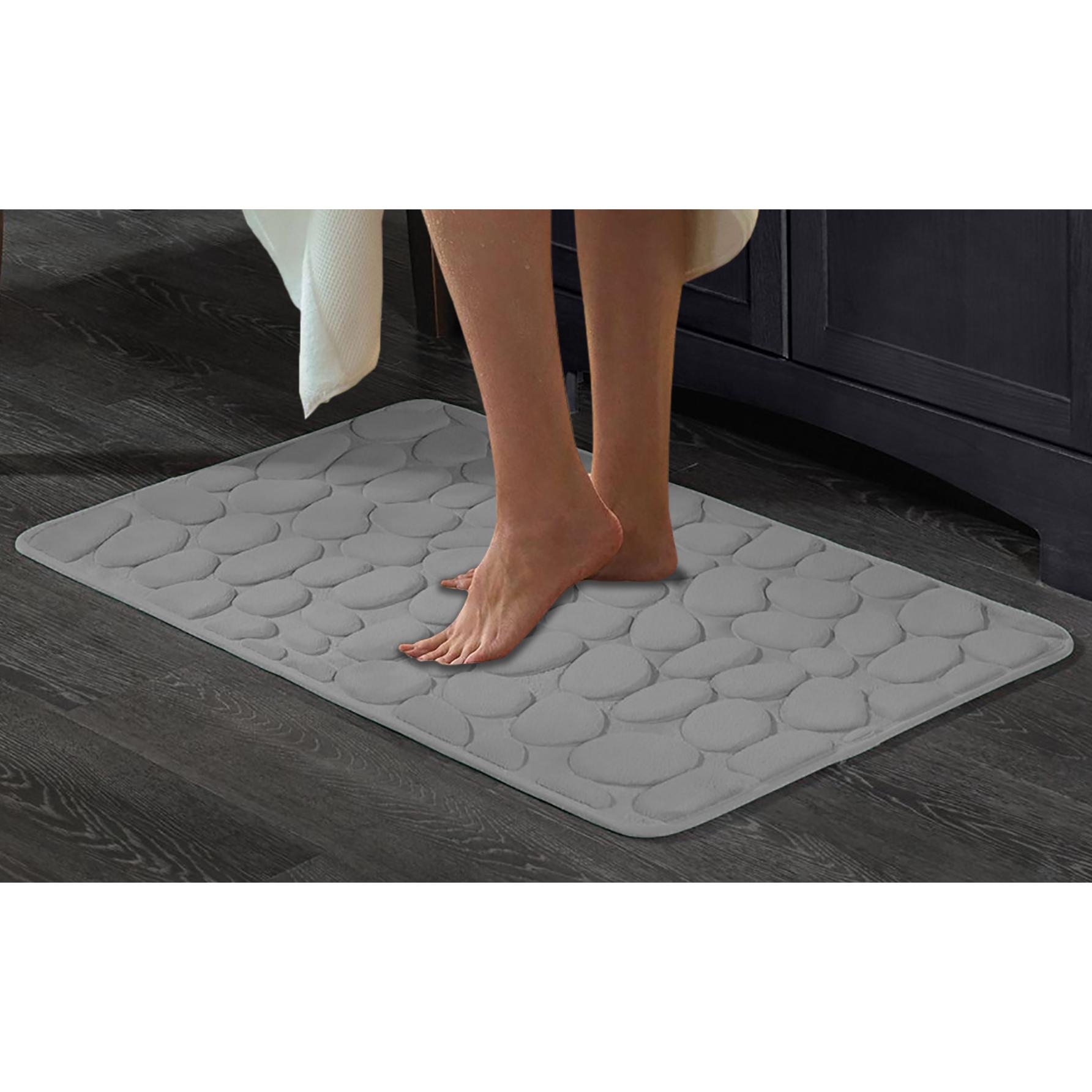 20  x 32  Memory Foam 3D Pebbles Bath Mat