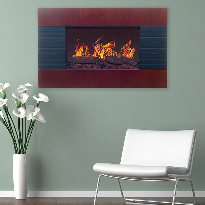 Northwest Mahogany Electric Fireplace with Wall Mount  amp  Remote 6f326092c39d