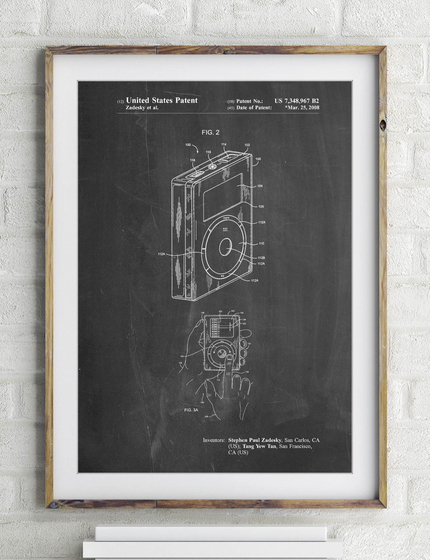 Mp3 Media Player Patent Poster