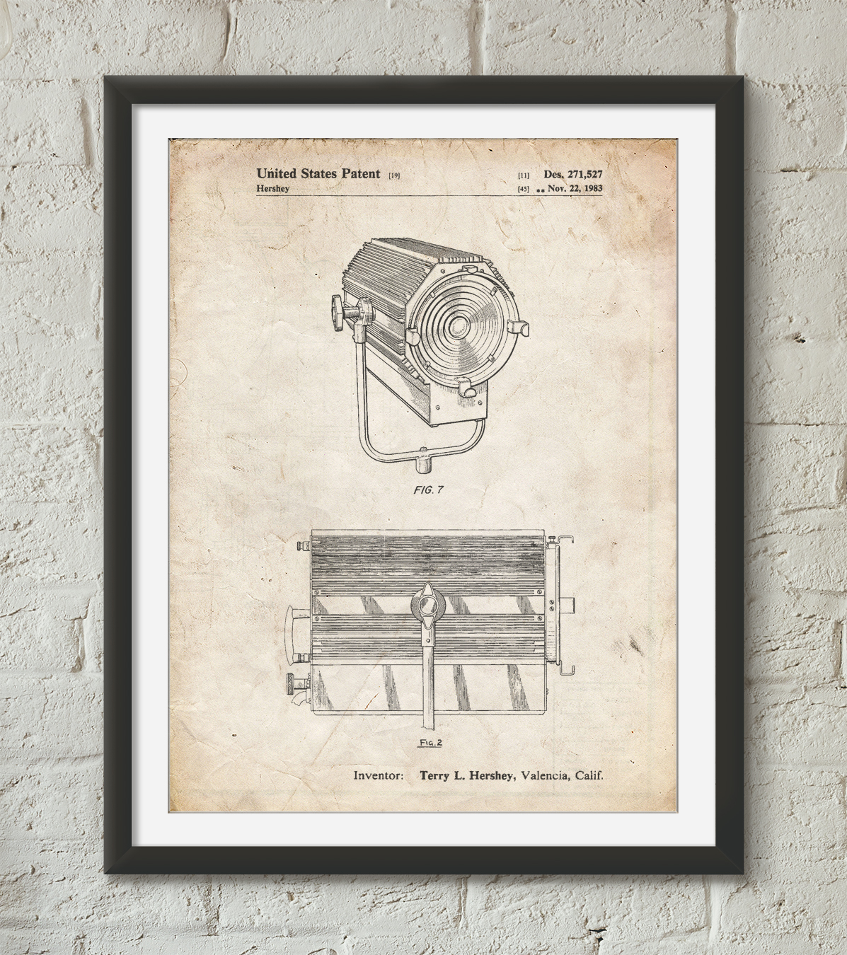 Mole-Richardson Film Light Patent Poster