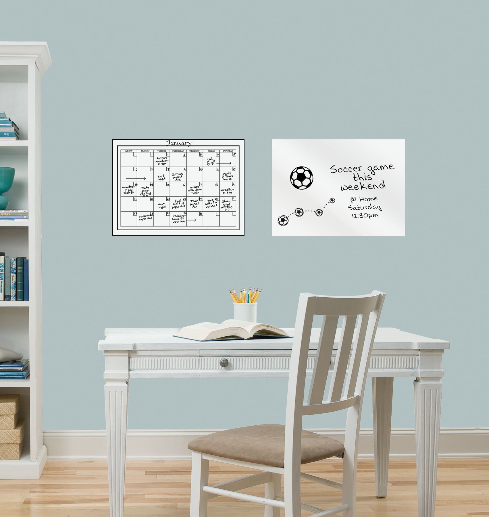 Monthly Whiteboard Dry Erase Calendar and Message Board Decal d28104eb2b13