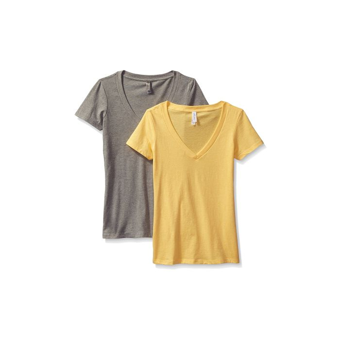 2-Pack Clementine Women s Deep V-Neck T-Shirt