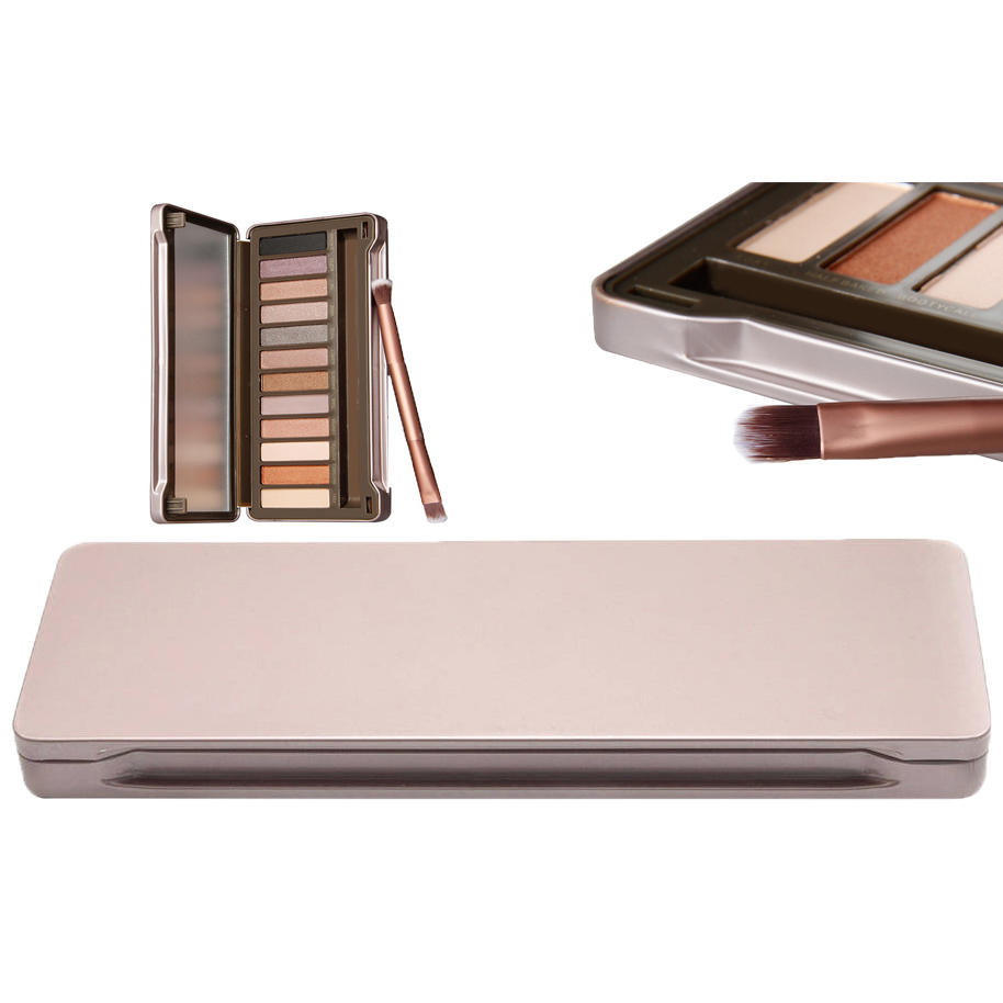 Professional 12 Color Naked Eye Shadow Palette With Brush 7803626
