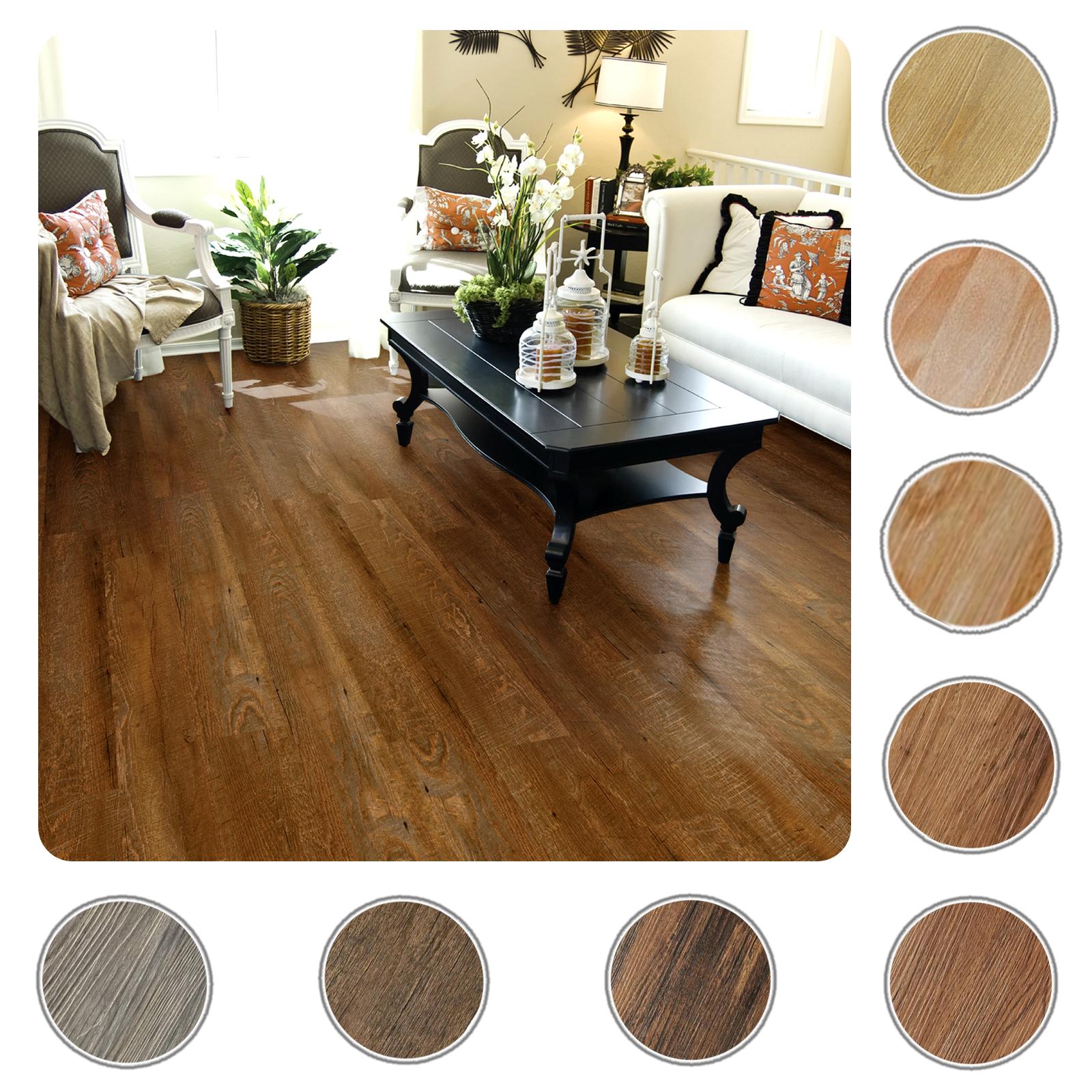 Self Adhesive Vinyl Planks Hardwood Wood Peel N Stick Floor Tiles