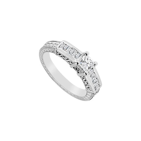 Incess Cut Engagement Ring